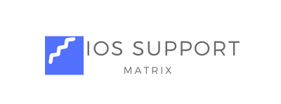 IOS SUPPORT MATRIX